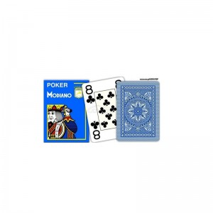 MODIANO Τράπουλα Poker Μπλε