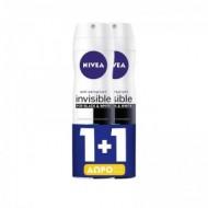 NIVEA Deo Spray Invisible for Black & White Active 150ml 1+1 ΔΩΡΟ