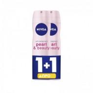 NIVEA Deo Spray Pearl & Beauty 150ml 1+1 ΔΩΡΟ