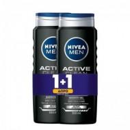 Nivea Men Shower Gel Active Clean 500ml 1+1 ΔΩΡΟ