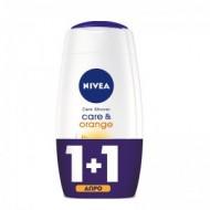NIVEA Αφρόλουτρο Care & Orange 250ml 1+1 ΔΩΡΟ