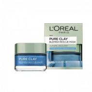 L'OREAL Pure Clay and Marine Algae Blemish Rescue Mask 50ml