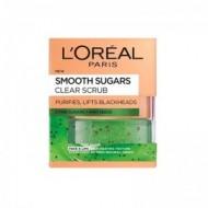 LOREAL Smooth Sugar Scrub Καθαρισμού 50ml
