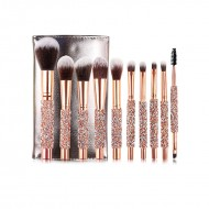 Set Makeup Brushes Diamond with Bag 10pcs