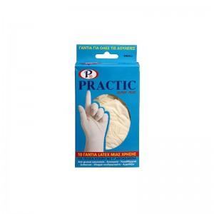 PRACTIC Latex Γάντια Small...