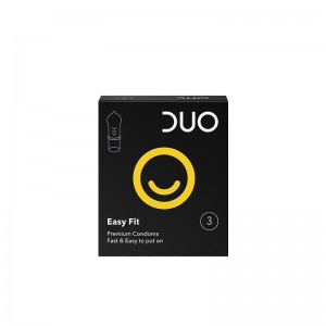 DUO Προφυλακτικά Easy Fit 3τμχ