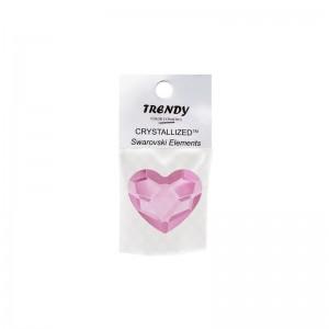 TRENDY Swarovski Καρδιά Ροζ...